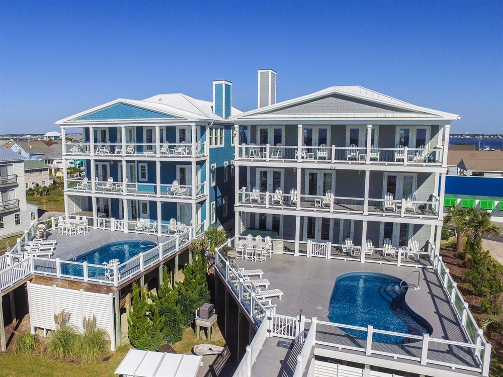 Crystal Coast Rentals Atlantic Beach Rentals A Pierless Vista 8 Bedroom Oceanfront House
