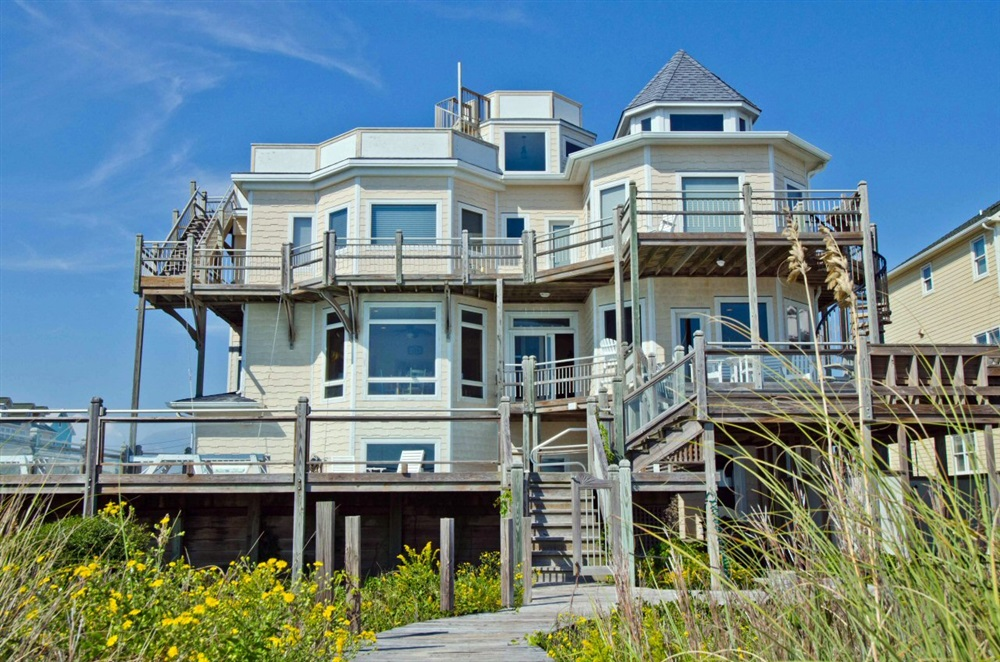 Crystal Coast Rentals Emerald Isle Rentals Sea Forever 6 Bedroom Oceanfront House